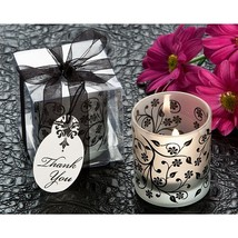 Frosted Elegance Black and White Votive Tea Light Candle Holder (Pack of... - $88.95