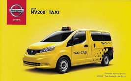 2014 Nissan NV200 TAXI sales brochure folder US 14 Commercial - $6.00