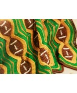 Football Afghan Lapghan Throw Stadium Blanket, warm at the game, Crochet Pattern - $4.50
