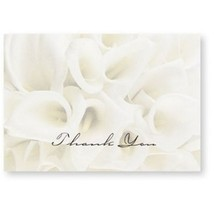White Calla Lilies Thank You Note Cards & Envelopes - 100 - $46.99