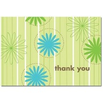 Daisy Stripes Thank You Note Cards and Envelopes - 72 - $39.99