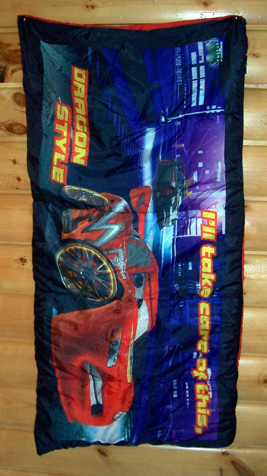 Disney Cars Dragon Style Lightning Mcqueen Sleeping Bag Home Room Accent Travel