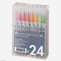 Kuretake ZIG Clean Color Real Brush Fude Pen Set 24   Manga   insurance ... - $52.54