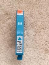 HP 920XL Cyan HIGH YIELD Ink Cartridge (HP CD972AN) NEW OEM 10/2016 - $18.87