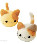 Japanese WOOL NEEDLE FELT kit  Twin Cats HAMANA... - $10.28
