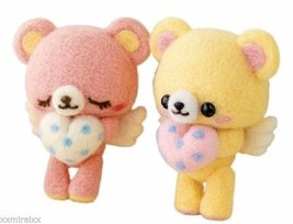 Japanese WOOL NEEDLE FELT kit Heart Bears HAMAN... - $10.28
