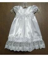 Preemie & Newborn Satin Rosebud Christening & Baptism Gown  - $50.00