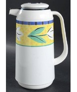 "Mikasa Flower Fest Thermos Carafe Coffee Pot Plastic 10.5"" high EUC DX10... - $22.00"