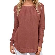 Plus Size New Sweater Solid Outwear Irregular Split Women Sweaters Warm ... - $36.42+