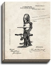 Band Sawing Machine Patent Print Old Look on Canvas - $39.95+