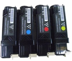 Dell Compatible 2150/2155 Set of 4 High Yield Toner Cartridges: 1(Black/Cyan/... - $37.61