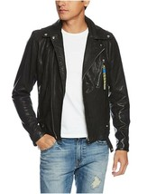 Diesel Mens L-Willcox Leather Motorcycle Jacket, Black, Size LARGE, BNWT... - $399.75