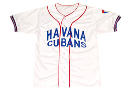 Havana Cubans Retro Button Down New Men Baseball Jersey White Any Size image 1
