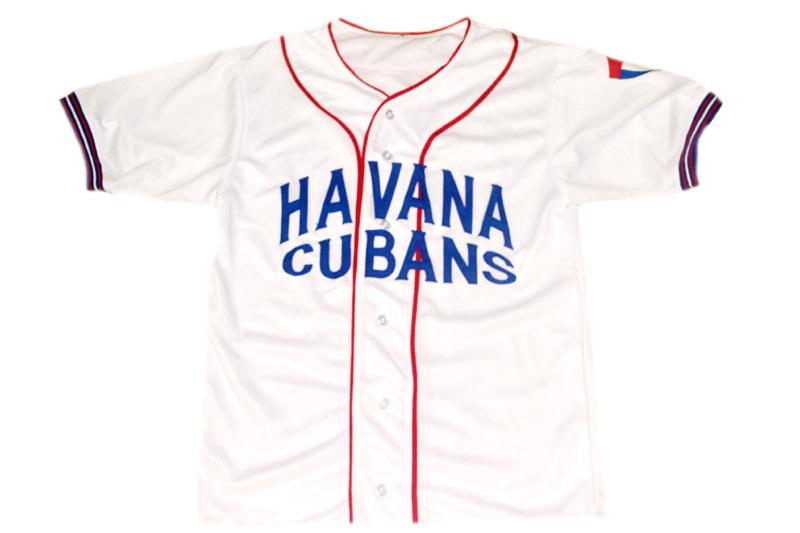 Cusom Name and # Havana Cubans Retro Button Down Baseball Jersey White Any Size