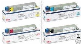 GENUINE OKI C9600/9800 TONER CMYK SET 42918901, 42918902, 42918903, 42918904 ... - $953.32