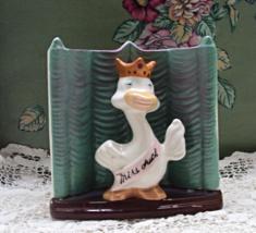 Vintage MISS DUCK Novelty Planter // Mid Century Ceramic Vase // KITSCH Decor - $14.00