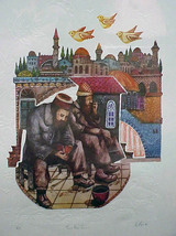 "Amram Ebgi ""Two Poor Jews"" - S/N Embossed Litho... - $70.00"