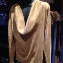 Dana Bachman Golden Knit Vintage Style Cowl Sweater - $32.73