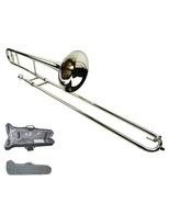 B Flat Silver Nickel Slide Trombone with Case  - $199.99