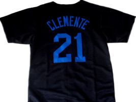 Clemente #21 Santurce Crabbers Puerto Rico New Baseball Jersey Black Any Size image 2