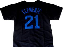Clemente #21 Santurce Crabbers Puerto Rico New Baseball Jersey Black Any Size image 4