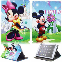"Cartoon Mickey Minnie Leather Case For 7"" Ematic EGQ 7 HD EGQ307 Tablet - $9.99"