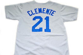Clemente #21 Santurce Crabbers Puerto Rico New Men Baseball Jersey Grey Any Size image 2