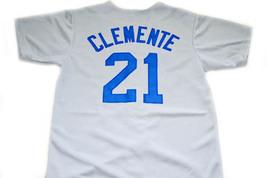 Clemente #21 Santurce Crabbers Puerto Rico New Men Baseball Jersey Grey Any Size image 4