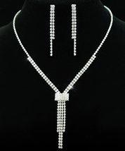 Wedding Bridal Crystal Rhinestone Necklace Earrings Set S1067 - $29.99
