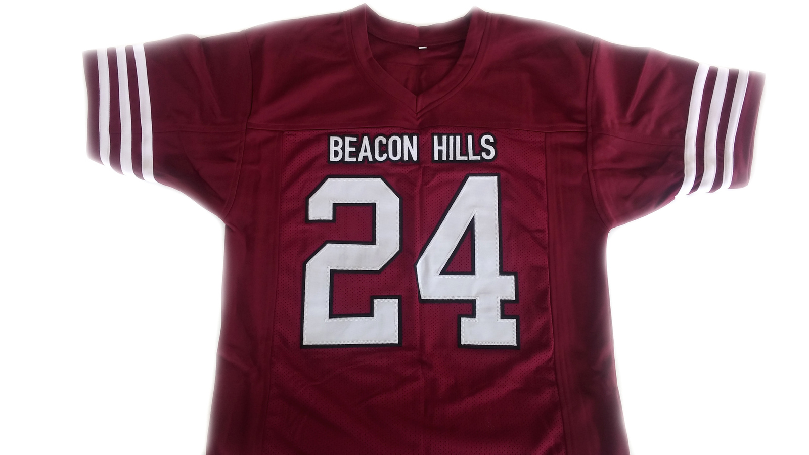Stilinski #24 Beacon Hills Lacrosse Jersey Teen Wolf TV Serie Maroon Any Size