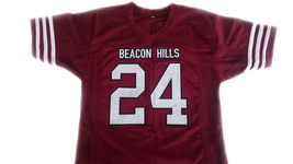 Stilinski #24 Beacon Hills Lacrosse Jersey Teen Wolf TV Serie Maroon Any Size image 1