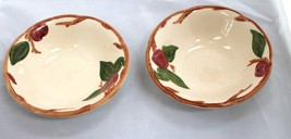 "8 Franciscan Sets of 2 APPLE 5 3/4"" Bowls cereal-desert Bowls Made In En... - $25.00"