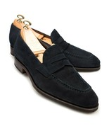 Suede Black Tone Leather Tassel Apron Toe Superior Leather Loafers Men S... - $139.99+