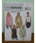 Butterick Pattern 3926 Womens 6-8-10 MISSES PETITE TOP LOOSE FITTING +3 ... - $5.95