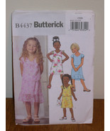 BUTTERICK PATTERN 4437 Sz 2-3-4-5 GIRLS PULLOVER TOP + PULL ON SKIRT NEW... - $5.95