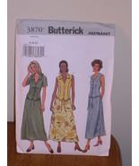 Butterick Pattern 3870 Womens 8-10-12 TOP + SKIRT Fast + Easy Princess s... - $5.95