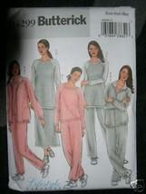 BUTTERICK PATTERN 4299 Sz XS-S-M JACKET TOP SKIRT PANTS Tunic Sweats Zip... - $5.95