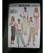Butterick Pattern 3791 Womens 6-8-10 MISSES PANTS New Petite Tapered Str... - $5.95