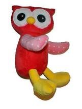 """Progressive Plush Odell 2014 10"""" Red Owl Plush Polka Dots #290794 Stuffe... - $14.25"""