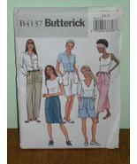 BUTTERICK PATTERN 4137 Sz 6-8-10 SKIRT SHORTS PANTS Semi-fitted, Straigh... - $5.95