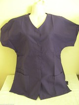Personalized Scrub Snap Top Purple Poly/Cotton Sz Xs 4 X Embroidered W/Your Text - $15.99+