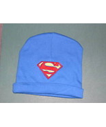 SUPERMAN SUPERGIRL BABY INFANT BEANIE CAP PERSONALIZED BLUE OR PINK VARI... - $9.99