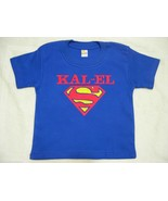 BOY'S ROYAL BLUE SUPERMAN TEE T-SHIRT PERSONALIZED with Child's Name SZ ... - $19.99