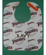 SAN DIEGO PADRES MLB PERSONALIZED BABY BIB BIBS LARGE + Baby's Name Embr... - $14.99