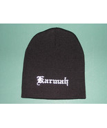 BLACK BEANIE PERSONALIZED Stretch Knit HAT CAP SKULL Up to 3 Words Embro... - $14.99