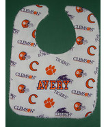 CLEMSON UNIVERSITY TIGERS +PERSONALIZED BABY BIB Cotton +Terry Large Mad... - $14.99