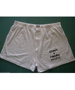 PERSONALIZED BOXERS GROOM WHITE WEDDING GIFT SIZE 42-44 Embroidered w/yo... - $14.99