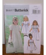 Butterick Pattern 4057 Girls 6-7-8 DRESS slightly flared raised waist +p... - $5.95