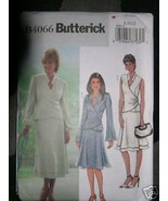 Butterick Pattern 4066 Womens 8-10-12 TOP AND SKIRT Semi-fitted, partial... - $5.95