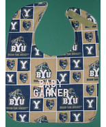 BRIGHAM YOUNG UNIVERSITY COUGARS PERSONALIZED BABY BIB + Embroidered Bab... - $14.99